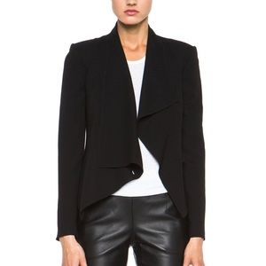 Helmut Lang Flash Draped Blazer in Black